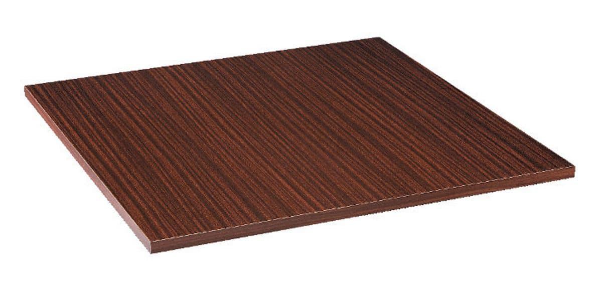 Piano tavolo in nobilitato melaminico mogano palissandro, Piano tavolo in nobilitato melaminico mogano palissandro