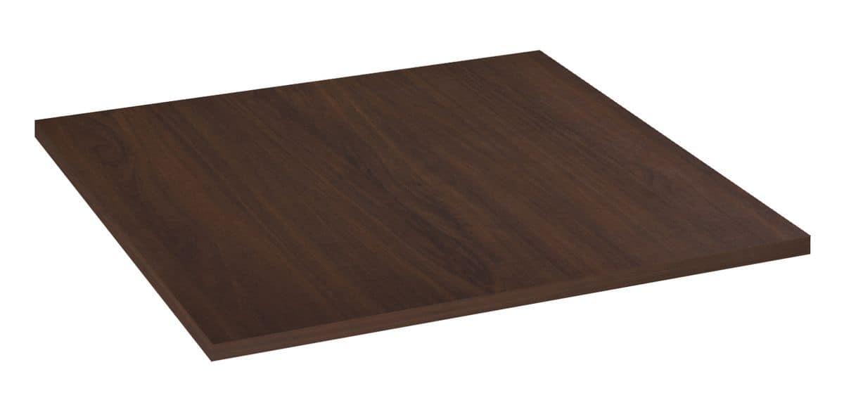 Piano tavolo in nobilitato melaminico noce, Piano tavolo in nobilitato melaminico noce