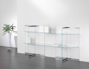 Glassystem COM/GS16, Espositori in vetro per negozi