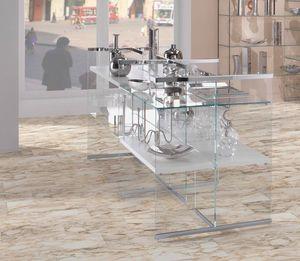 Glassystem comp.03, Mobile espsitivo in vetro per negozio