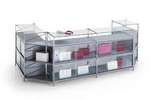 Socrate banconi, Bancone modulare per negozi, in varie dimensioni e finiture