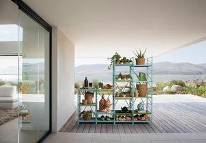 Socrate outdoor, Sistema d�arredo per esterno, modulare e componibile