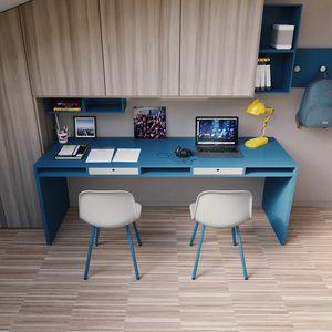 Easy desk 02, Ampia scrivania con cassetti
