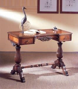 Art. 214, Scrittoio lussuoso, in legno intagliato, con 2 cassetti