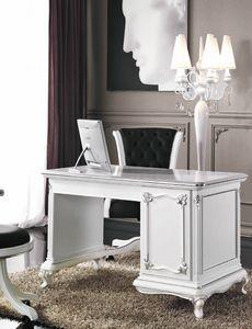 Art. 3244, Elegante scrittoio laccato bianco