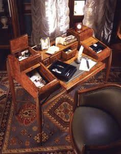 Art D�co Art.541 scrivania, Scrittoio in radica, con finiture satinate