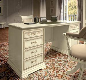 Torriani Home Office scrivania, Lussuosa scrivania in stile classico