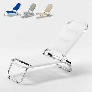 Sedia spiaggina mare pieghevole Tropical � TR800TEX, Sdraio in alluminio e tessuto textilene ideale per la spiaggia