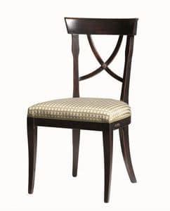 Alexie BR.0205, Sedia con sedile in tessuto, senza braccioli