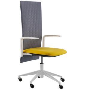 Elodie Executive 05R, Sedia per ufficio con ruote e schienale fonoassorbente
