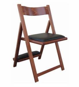 193, Sedia in legno di faggio, con inginocchiatoio, per chiese