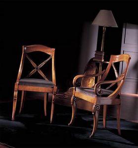 251S, Sedia in legno decorato