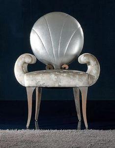 281S, Sedia in legno con schienale tondo