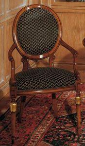 Art. 1113, Sedia in stile classico per soggiorni, schienale ovale