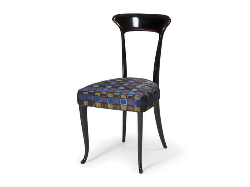 Art.190 sedia, Sedia classica in faggio con seduta imbottita, per ristoranti