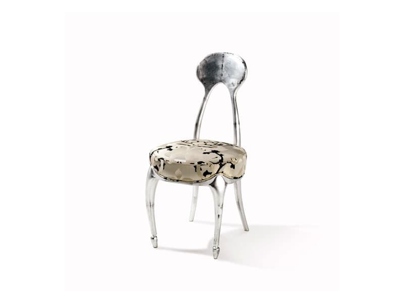 Art.242 sedia, Sedia in stile classico, con seduta imbottita