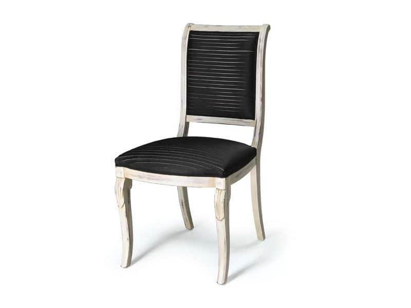 Art.466 sedia, Sedia senza braccioli per sala da pranzo, stile classico