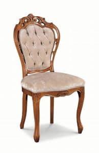 Art. 520s, Sedia con legno con intagli e struttura traforata