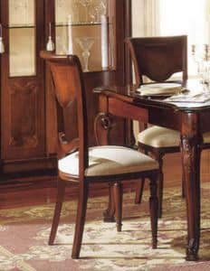 Canova sedia, Sedia classica in noce, intagliata artigianalmente