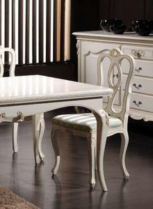 Desiree Sedia, Sedia classica in legno laccato bianco