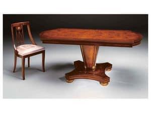 IMPERO / Sedia imbottita, Sedia in stile classico, in legno con seduta imbottita