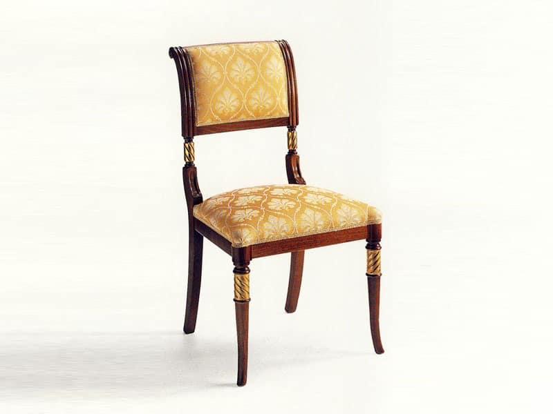 Sedia classica in legno, imbottita, per Albergo  IDFdesign
