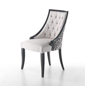 Lounge, Sedia con rivestimento in pelle
