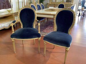 Sedia 1445 STILE LUIGI XVI, Sedia da pranzo in stile classico