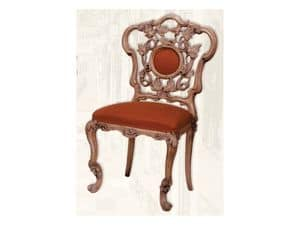 Sedia art. Sari, Sedia in legno con seduta imbottita, stile Art Deco