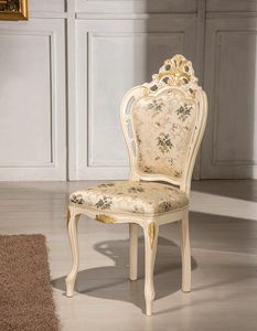 Traforata Plus sedia, Sedia da pranzo intagliata