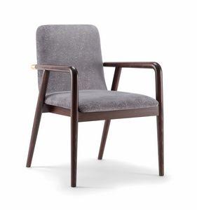 GRACE LOUNGE CHAIR 074 P, Sedia in legno con braccioli