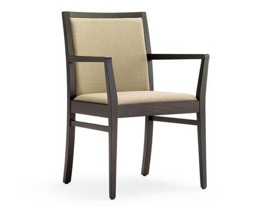 Guenda-P1, Sedia con braccioli per albergo