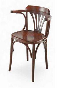Strauss-P, Sedia in legno con braccioli, stile viennese