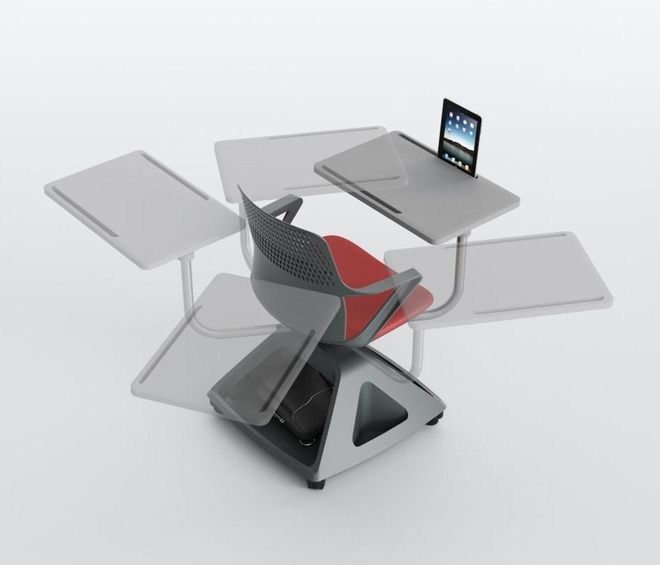Rover EVO, Sedia con tavoletta pieghevole, e base porta-oggetti