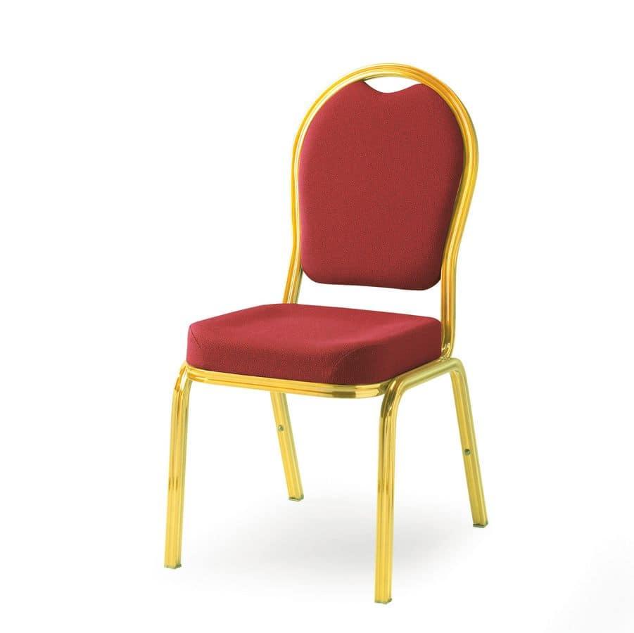 Cello 58/3, Leggera ed impilabile sedia per conferenza