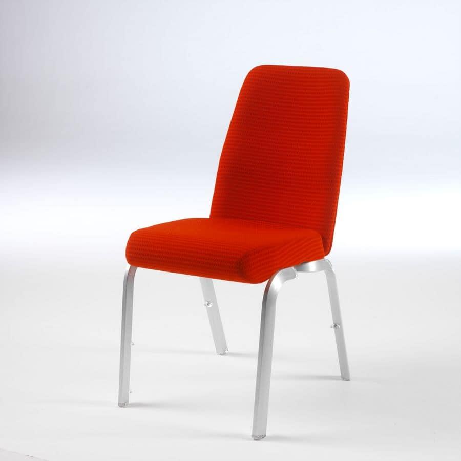 Orvia 12/1, Confortevole sedia per conferenze, sedile e schienale anatomici