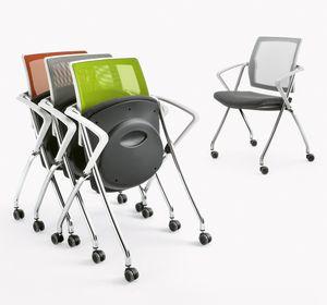 Q-Go XL RETE, Sedia impilabile orizzontalmente o verticalmente