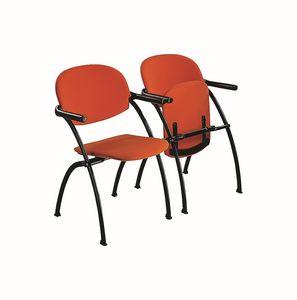 Aura ribaltabile, Sedia agganciabile in metallo con sedile ribaltabile