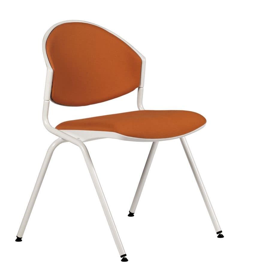 NESTING DELFI 088 S, Sedia impilabile in metallo e polimero, per sala conferenza