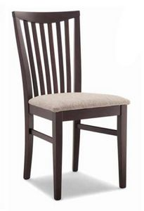 Anna, Sedia legno, con seduta imbottita
