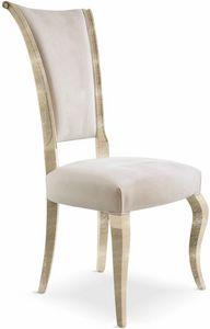 Raffaello sedia, Sedia in legno massello imbottita
