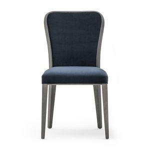 Wave 02711, Raffinata sedia in legno imbottita