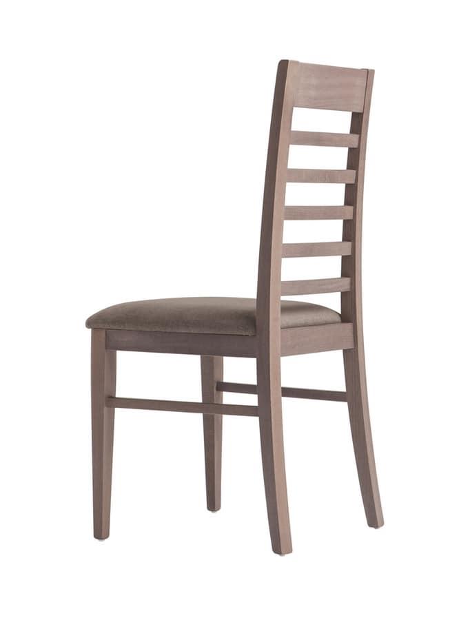 MP490E, Sedia in legno con sedile imbottito