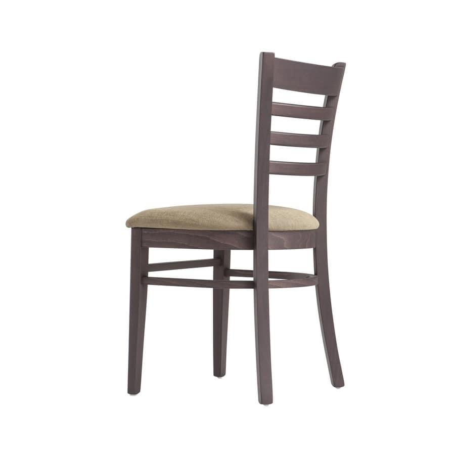 RP491, Sedia in legno con seduta personalizzabile