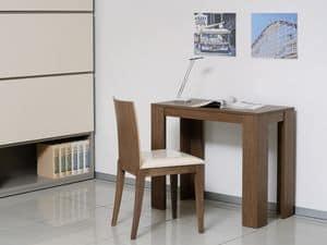 Complementi Sedia 04, Sedia con seduta imbottita e schienale in legno pieno
