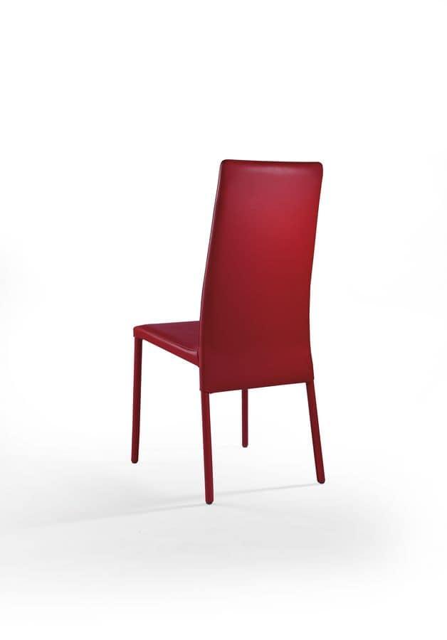 Venere, Sedia da pranzo moderna, in pelle, per sala riunioni