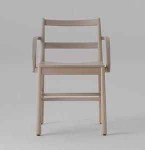 ART. 0020-LE-AR JULIE, Sedia in legno con braccioli
