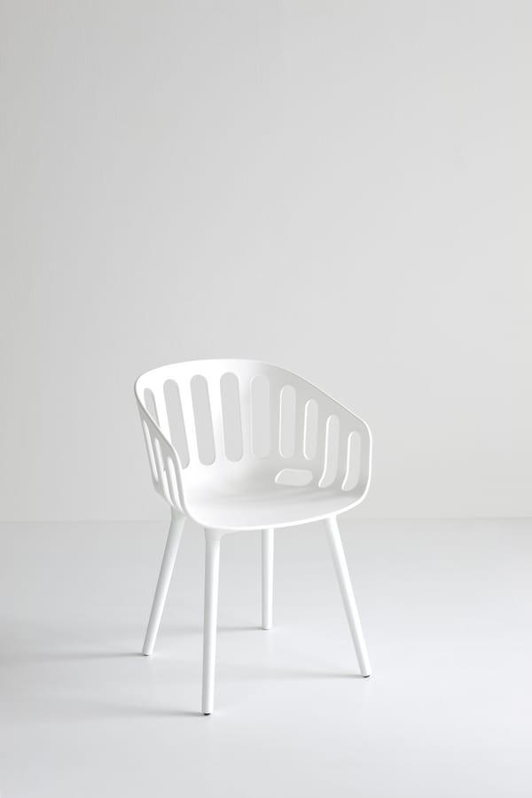 Basket Chair BP, Sedia design in tecnopolimero, per bar e ristoranti