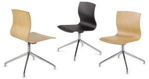 WEBWOOD 368, Sedia con schienale in legno