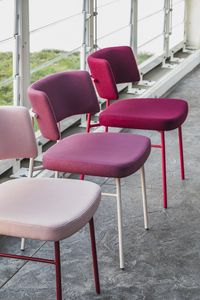 ART. 0161-MET-IM MARLEN, Sedia con struttura in metallo, seduta imbottita